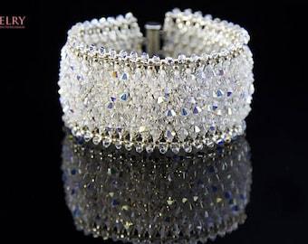 Swarovski Bracelet/bridal bracelet/Wedding Bracelet for Bride/Crystal Bridal Bracelet/Bridal Jewelry/Crystal bracelet/Wedding bracelet
