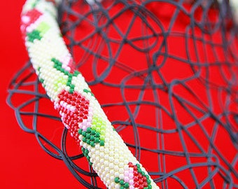 Beaded Choker/Beaded choker necklaces for women/Bead Embroidery Necklace/