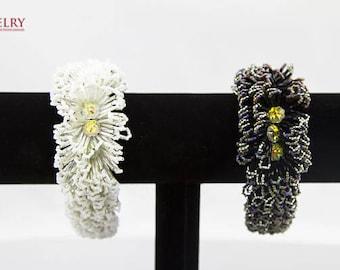 Beaded bracelet/ white bracelet/black bracelet/high-end bracelet/graduation bracelet for high school/