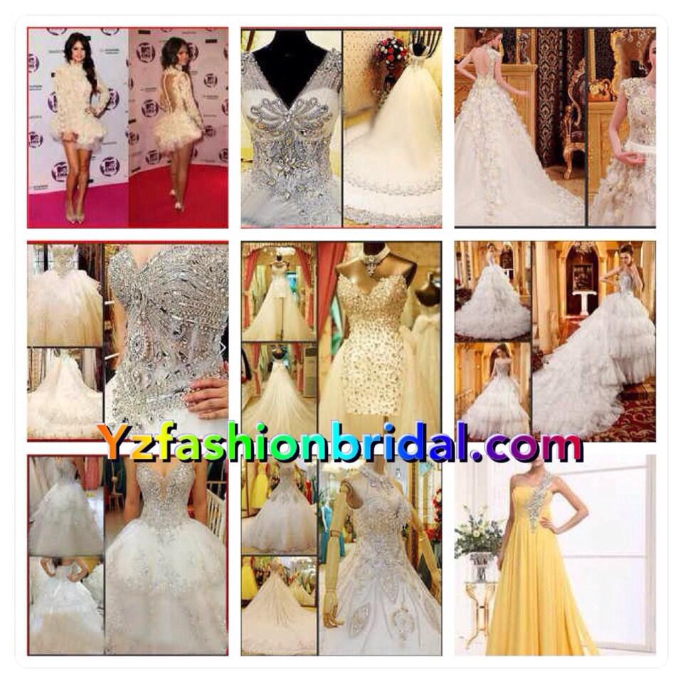 0619a1359de2 YZ SWAROVSKI Luxury Crystals Dream Beautiful Gown