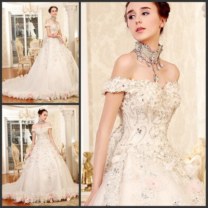 e070deac2212 YZ Fashion Bridal Luxurious Swarovski Crystals Gowns