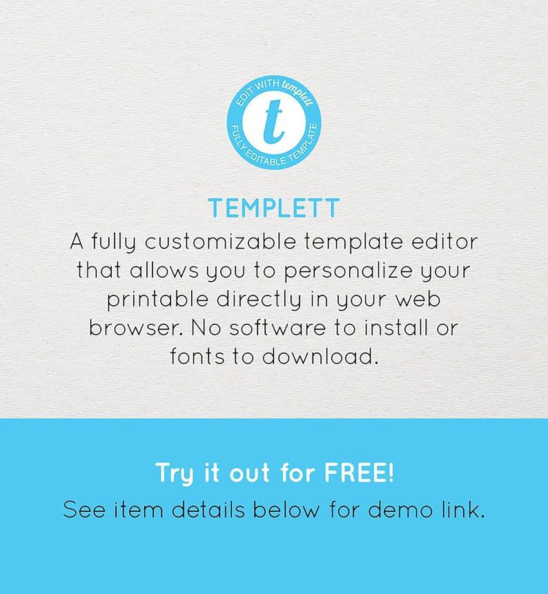Editable Templett Design Botanical Framed Save The Date Instant Download