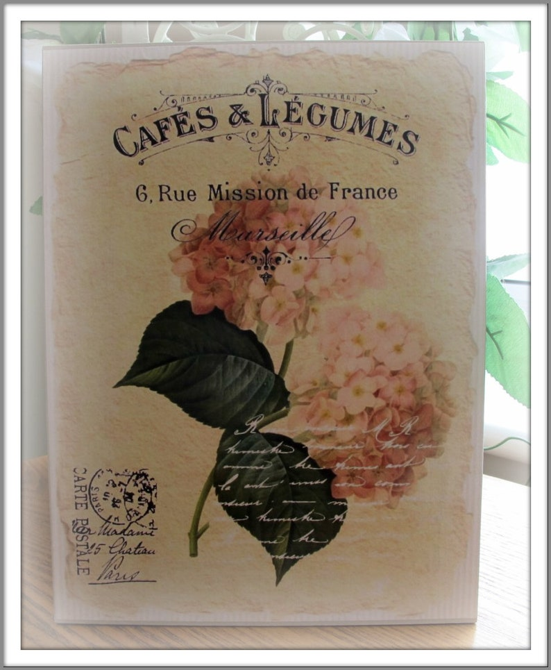 Decoration Carte Postale.Pink Hydrangea Carte Postale French Wall Art Decor French Country Shabby Chic Cottage Homes Decor Housewarming Gift Cafe Artnew Home