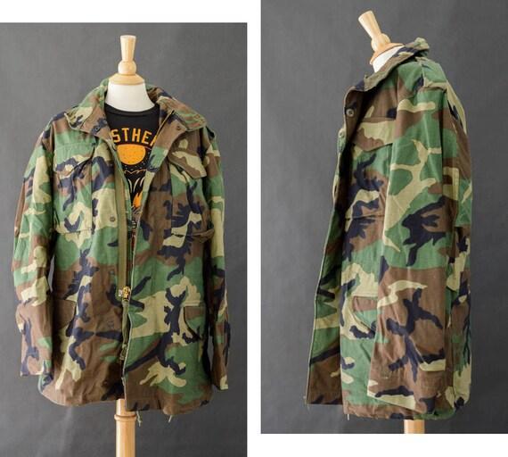 M65 Field Jacket Vintage M65 Camouflage Army Jacket 80s Camo  2849299eeff