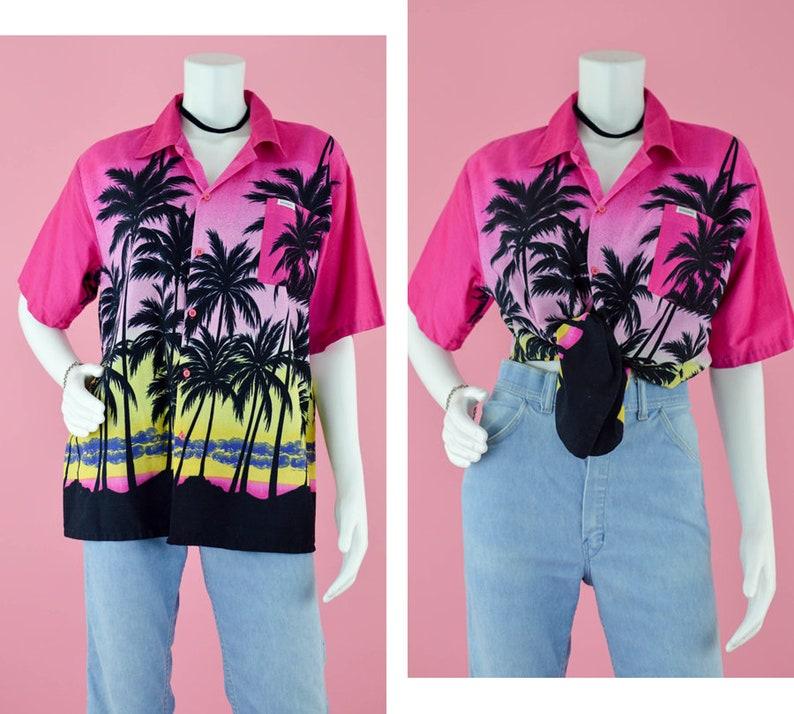 de742476 80s Hawaiian Tropical Camp Shirt Vintage Cotton Summer Button | Etsy