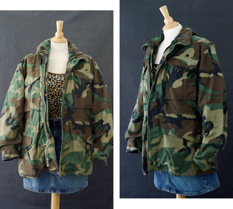 M65 Field Jacket Vintage M65 Camouflage Army Jacket 90s Camo  e99d7d8c753