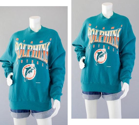 ea0691b8f Vintage Miami Dolphins Sweatshirt NFL Pullover Sweatshirt