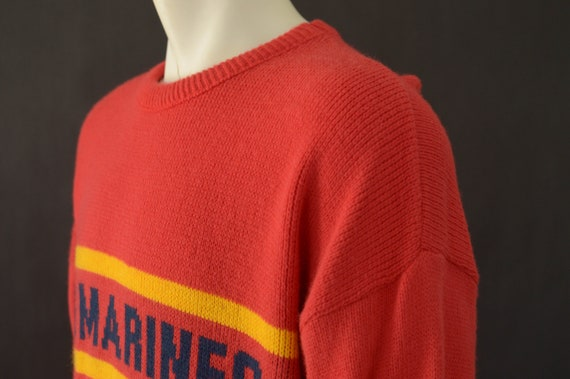 Adult 80s 80s clothing Size Military Marines Wool Engle Pull Red Cliff Vintage Sweater Large Marines Over Sweater Sweater US 8OS Marines 4qv1cg
