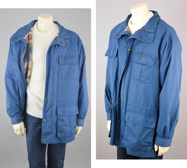 40c0c0b572d 90s Parka Eddie Bauer Vintage Blue Southwestern Aztec Wool
