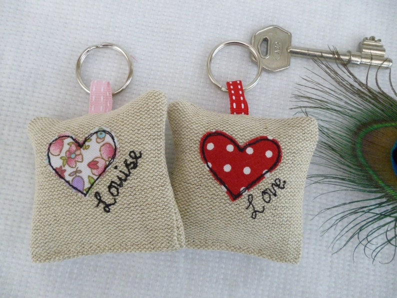 Handmade Lavender Keyring Choice of colour /& Personalisation New House Gift Home