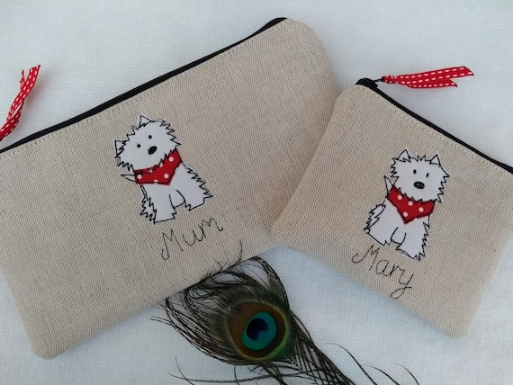 Personalised Sheep Coin Purse//Wallet or Pencil Case Linen Choice of wording gift