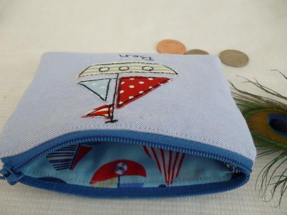 Choice of words Handmade Personalised Rocket Purse//Wallet or Pencil Case Grey