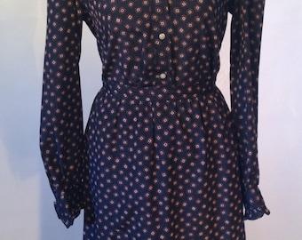Evan Picone Blouse & Skirt SET // Vintage Designer Skirt Set // Size 10 // Pussy Bow Blouse // 1970s skirt