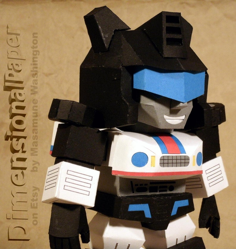 alien robot SD Jazz cardstock model figure Chibi Cybertronian sportscar papertoy papercraft autonomous bot Lil/' Jazz