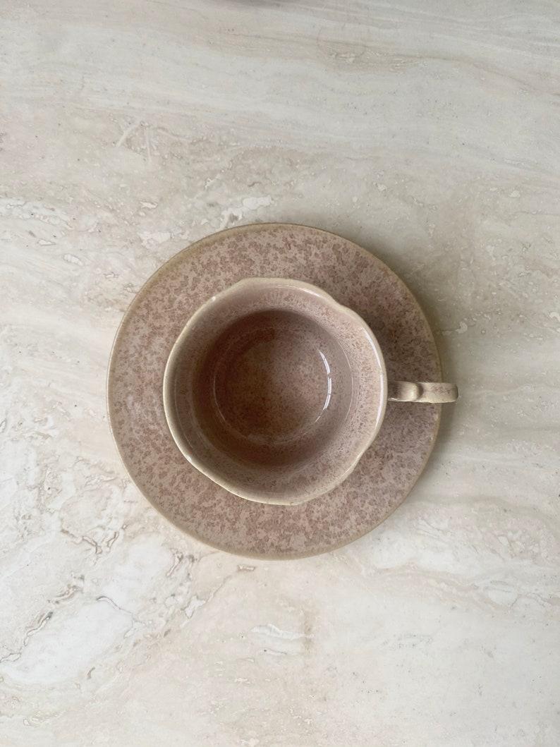 Vintage coffee espresso mugs and saucer set Set of 5. tea cup set