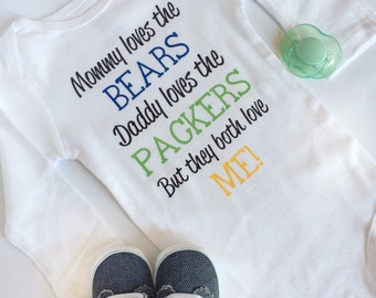 Custom House Divided Baby Bodysuit - Perfect for NFL, MLB, NHL and college sports fans