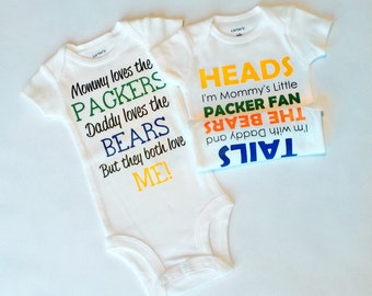 SAVE 25% - Custom House Divided Baby Bodysuit Combo - Perfect Gift for Baby Showers and New Parents!