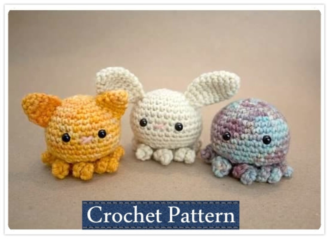 Amigurumi Pattern Crochet Octopus Pattern With Permission To Etsy