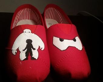 393d37ca6e Baymax Shoes - Big Hero 6 - Disney - Hiro - Hand Painted - Custom - Fandom  - Super Hero - Kids Shoes - Childrens - Boys - Girls - Christmas