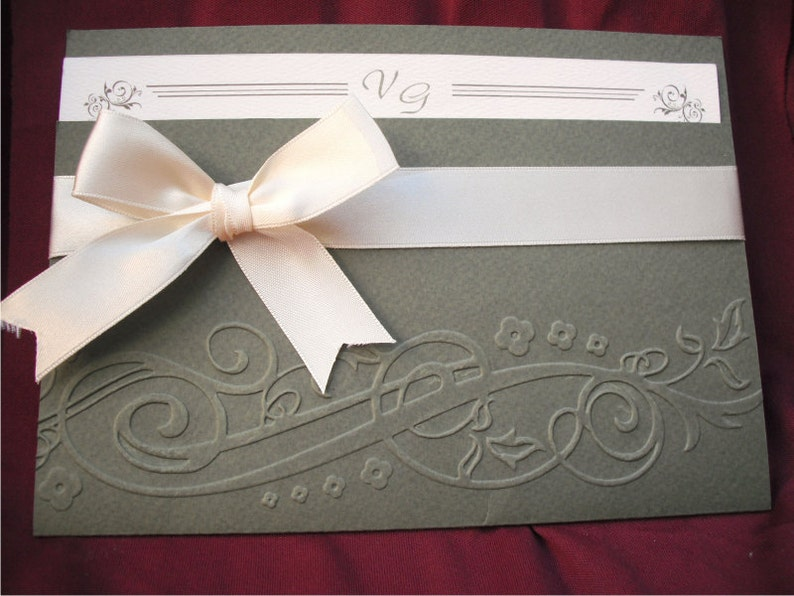 10422c5cc Invitación de la boda invitación de la boda grabada original   Etsy