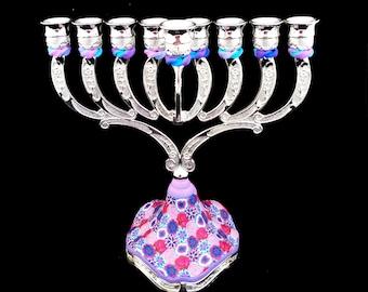 Candelabra, Hanukkah, Menorah, Candle Holders, Jewish Wedding Gift, Made In Israel, Judaica, Hanukkah Décor, Candle Centerpiece, Candlestick