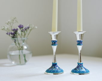Small Candle Holders, Table Decoration, Bat Mitzvah Gift, Jewish Wedding Gift, Modern Judaica, Hostess Gift, Candle Centerpiece, Jewish Gift