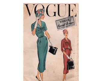 """Vogue Special Design Sheath Dress Sewing Pattern, with Sew In Label, Misses Size 16 Bust 36"""" Vintage 1950's Vogue S-4794"""