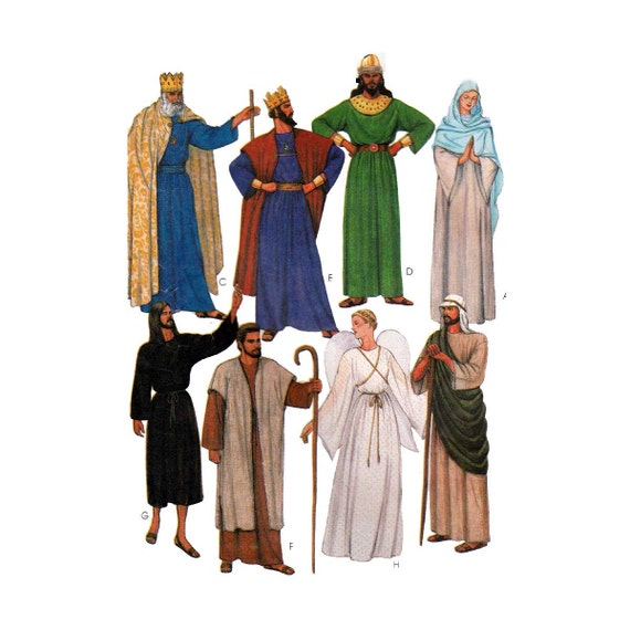 Erwachsenen biblische Kostüme Schnittmuster Misses / Herren | Etsy