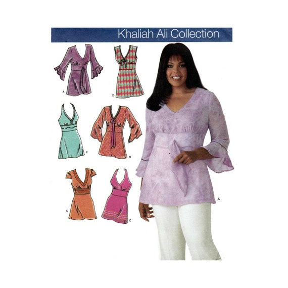 Womens Tunic Tops Sewing Pattern Khaliah Ali Collection Etsy