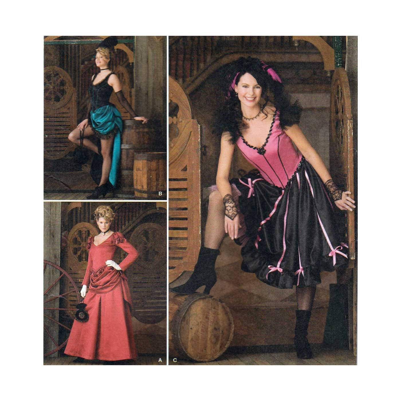 Damen Kostüm Schnittmuster Saloon Girl Steampunk Misses