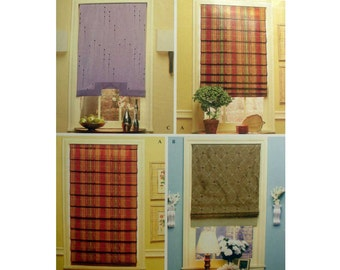 Window Shades, Roman Shades Christopher Lowell Collection Window Treatments Sewing Pattern Uncut Simplicity 4105