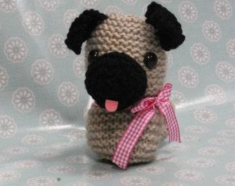 Knitting Pattern for toys  knotting pattern pug   knitted dog   pugdog    pdf pattern  pdf knitting pattern  dog knitting pattern 9e777e769f