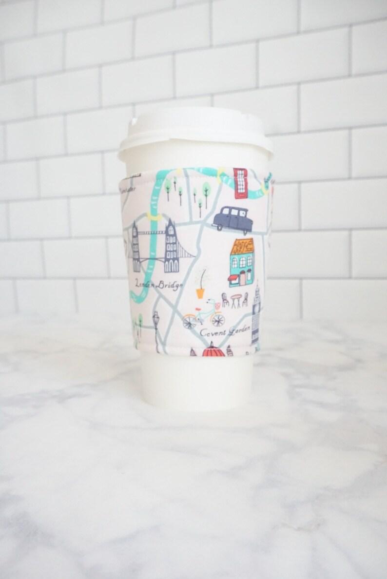 Reusable Coffee Sleeve-London Print image 0