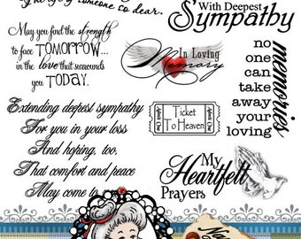 WITH DEEPEST SYMPATHY RUBBER STAMP STAMPEDE A2459D