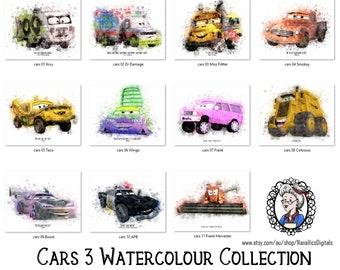 Disney Cars 3 Print Etsy
