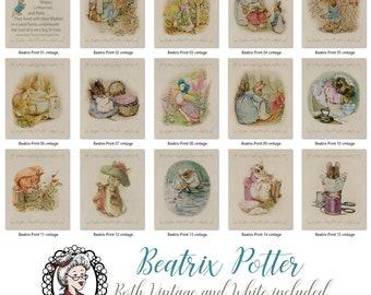 Beatrix Potter Nursery, Set 15 Prints, Peter Rabbit, Kids room decor, Nursery Decor, Beatrix Potter, Beatrix Potter Prints, Gifts for baby,