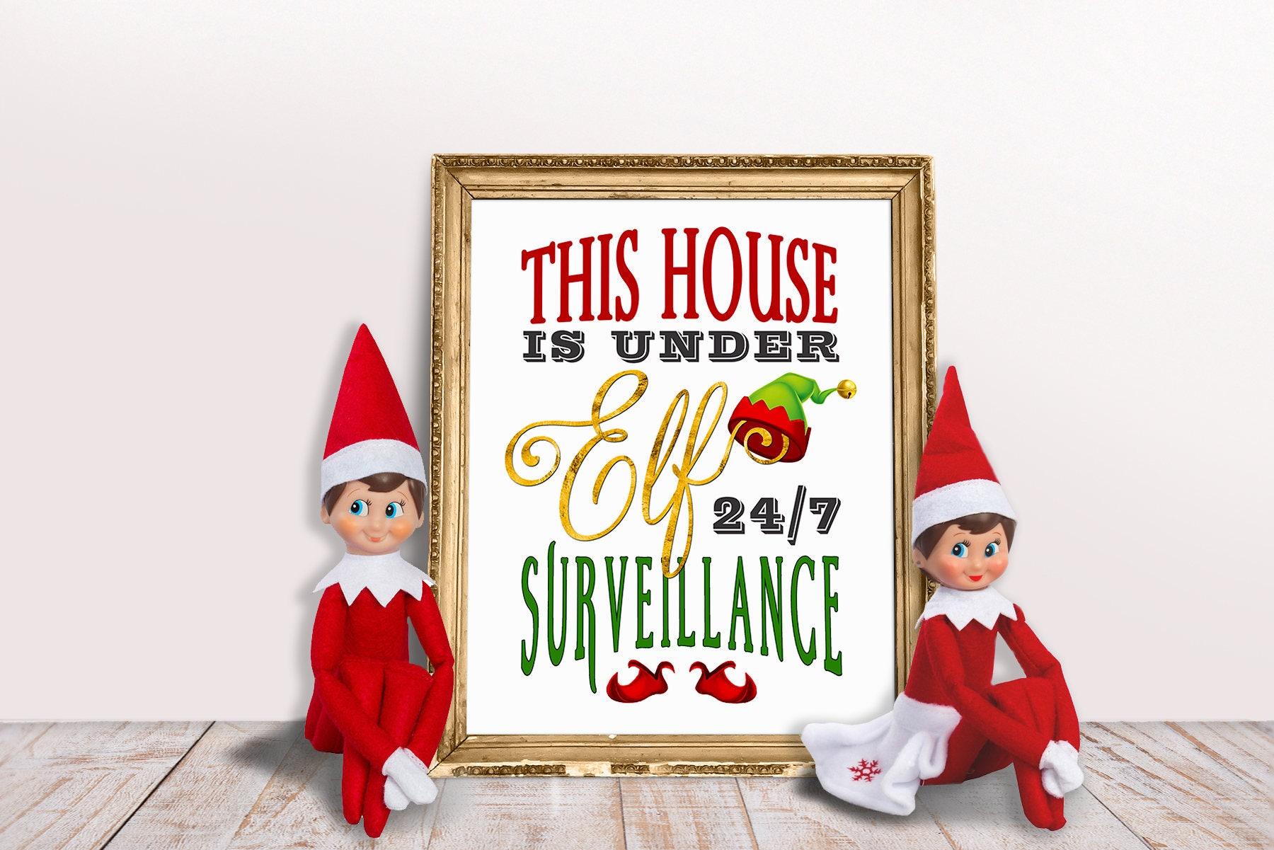 Christmas Grinch Quote 8 X 10 Digital Print Instant By: Elf Printable This House Is Under Elf 24 / 7 Surveillance
