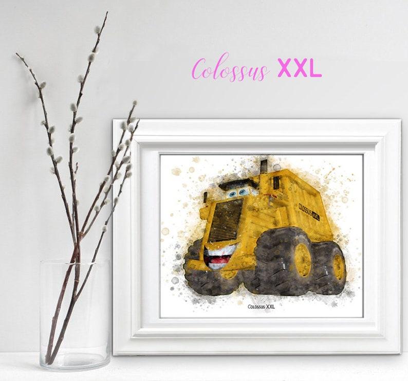 Disney Cars Colossus xxl, Disney Pixar cars 2, Dump Truck Print, Movie  Poster, Boy Nursery Decor, Kids Room Wall Decor, Racing Car Art Print