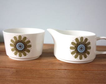 A J and G Meakin bowl and jug , from the Galaxy range.