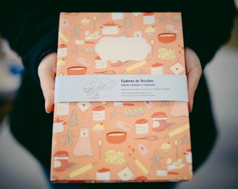 Limited Edition -  Cookbook - Hardcover - Colab with Doce para o meu Doce blog - A5 - Inside in Portuguese