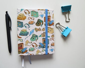 Small Travel Journal - A6 Hardcover - Blank Pages - Travel essentials in Blue