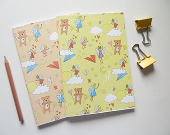 Sweet Dreams Journal - Blank A5 Notebooks - Pack of 2 Journals - Pattern