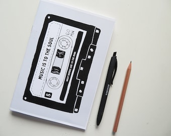 Music is to the soul... - Blank A5 Notebooks - Journal - Quote