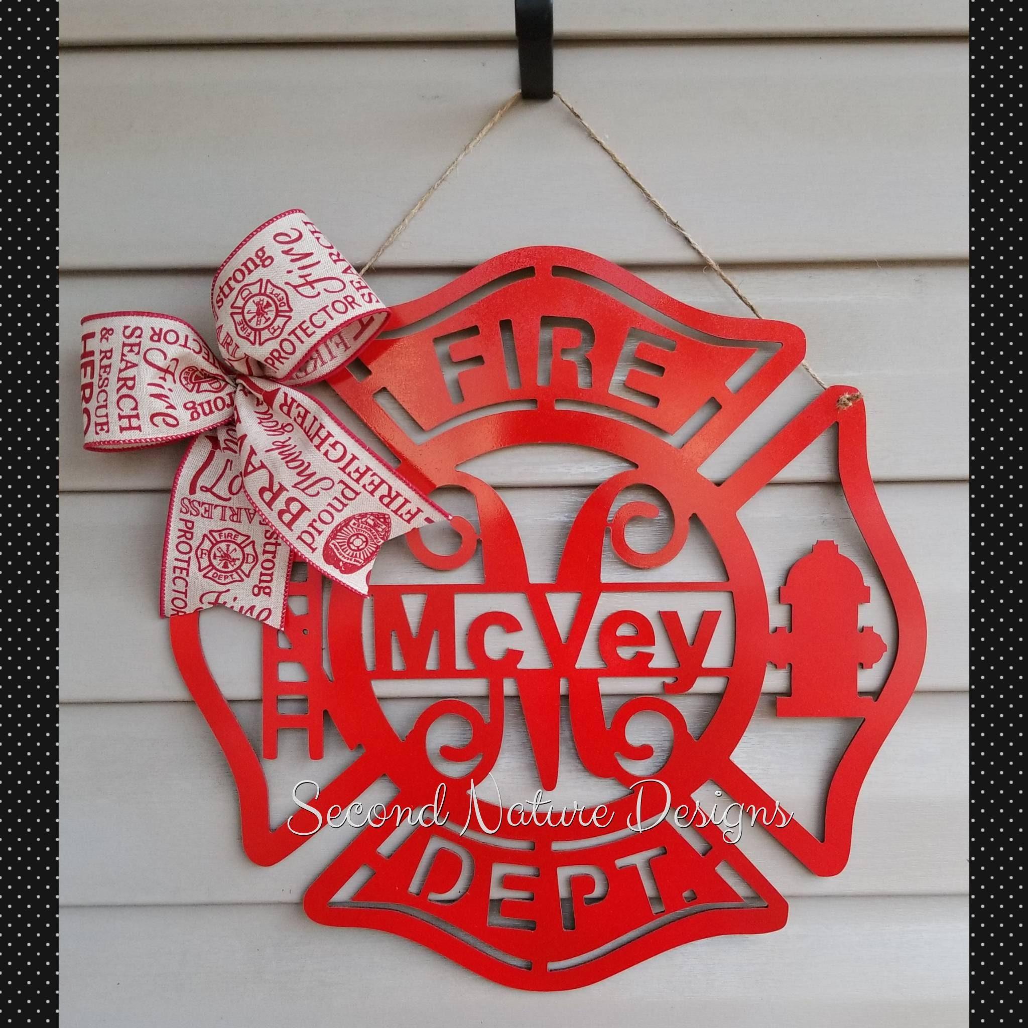Firefighter Door Hanger Maltese Cross Sign Etsy Jpg 2048x2048 Pumpkin Templates
