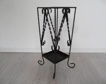 Vintage umbrella stand,umbrella holder,umbrella rest,Vintage small furniture,metal umbrella holder,heavy small furniture
