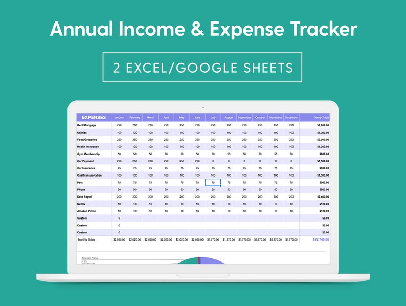 Annual Income & Budget Expense Tracker