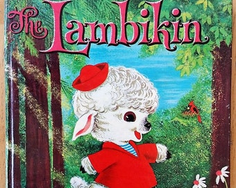 Vintage 1962 Whitman Tell-A Tale Children's Book- The Lambikin by Helen S. Hansen- Hard to find Classic