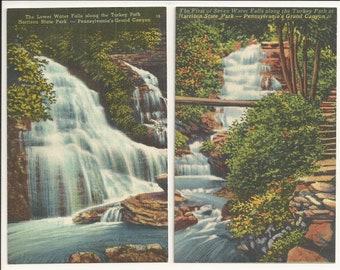 Wellsboro Pennsylvania  FREE Shipping Pa Grand Canyon 2 Caulkins Real Photo Postcard Lot RPPC Pcs Train Tracks Harrison Lookout 3 FREE