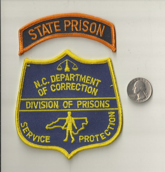 Vintage North Carolina Department of Correction Division Prisons Police Patch NC