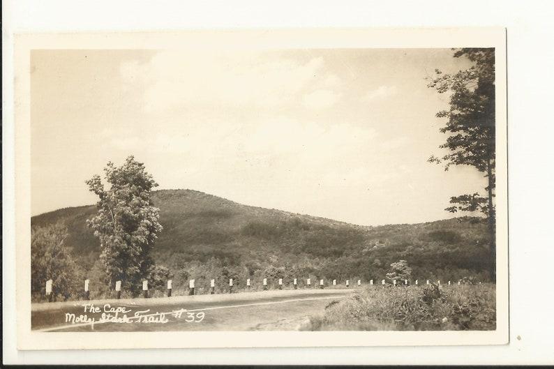 Wilmington near Marlboro 1940s Real Photo RPPC Postcard- View of the Cape Windham County Vermont VT Molly Stark Park ~ Small Town PC